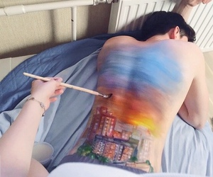 beautiful, paint, and Relationship image