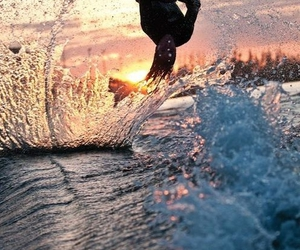 sunset and water image