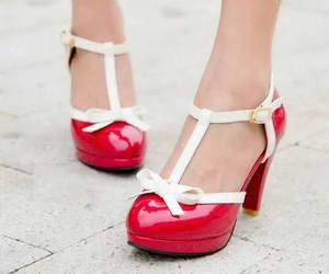 red, shoes, and kawaii image