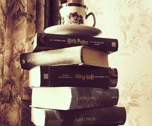 book, harry potter, and tea image