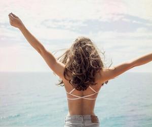 fashion, ocean, and paradise image