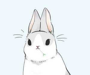 cute, blue, and bunny image