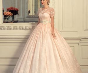 dress, girl, and gown image