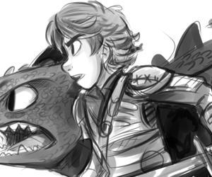 hiccup, httyd, and fanart image