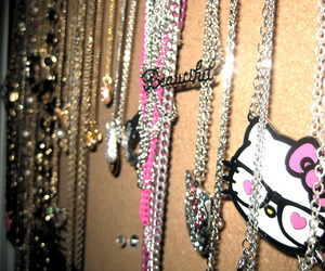 hello kitty and necklace image
