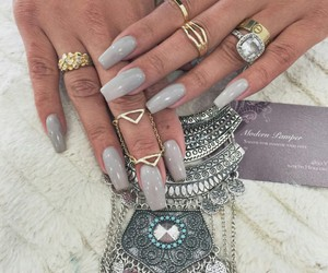 nails, pretty, and rings image