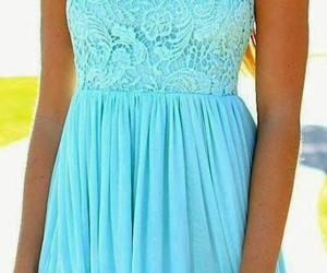 blue, dress, and lace image