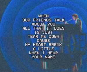 Lyrics, music, and sad image