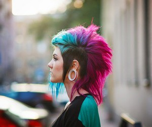 hair, pink, and punk image