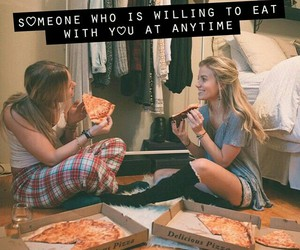 eat, pizza, and happiness image