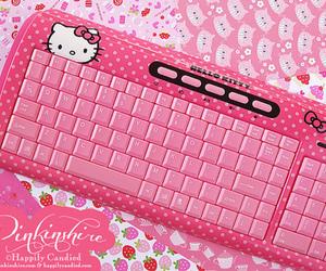 kawaii, hello kitty, and pink image