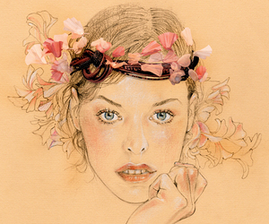 eyes, spring, and fashion image