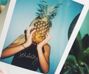 pineapple, polaroid, and picture image