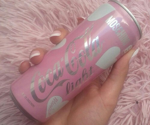 cocacola, heart, and pastel image