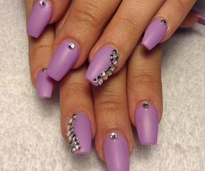 diamonds, nail art, and nails image
