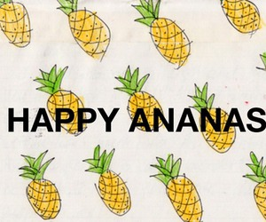 ananas and happy image