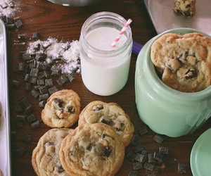 Cookies, yummy, and milk image