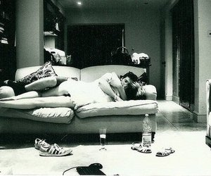 arms, couch, and couple image