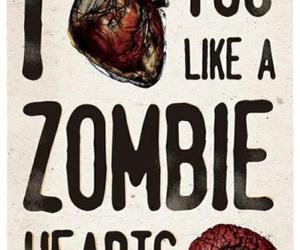 zombie, love, and brain image