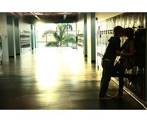 kiss, school, and couple image