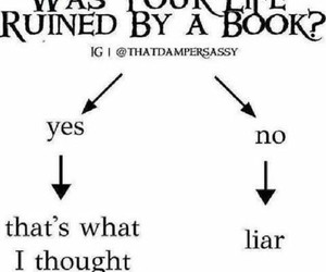 book, liar, and funny image