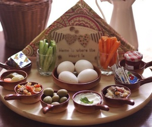 arab, breakfast, and egg image