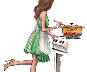 art, cooking, and drawing image