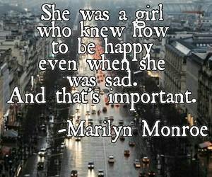happy, Marilyn Monroe, and sad image
