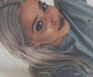 beauty, greyhair, and brows image