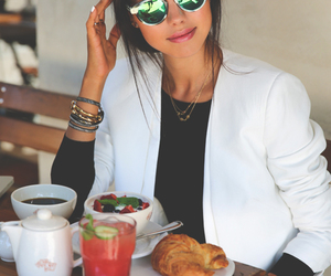 fashion, girl, and food image