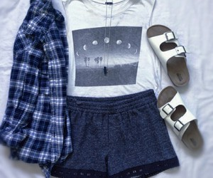 fashion, flannel, and moon image