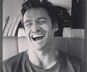black and white, logan, and smile image