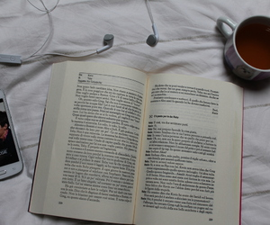 book, lazy day, and music image
