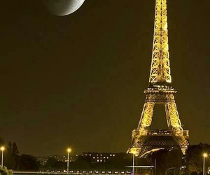 moon and paris image