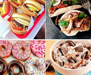 burgers, sandwich, and desserts image