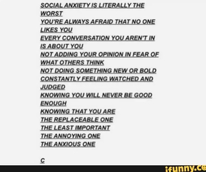 annoying, anxiety, and social anxiety image