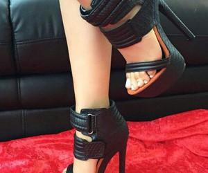 beauty, black, and heels. image