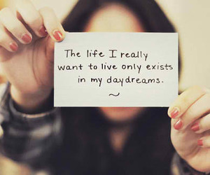 life, Dream, and quote image