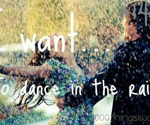 dance, rain, and dancing in the rain image