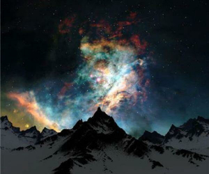 black, colours, and galaxy image