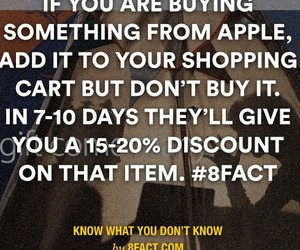 apple, shopping, and fact image