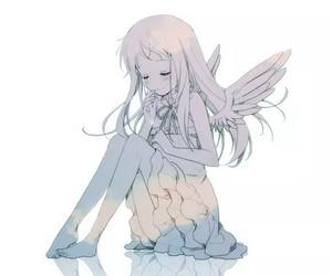 anime, menma, and angel image