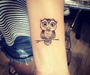 owl, tattoo, and tatoo image