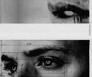 eyes, black and white, and boy image