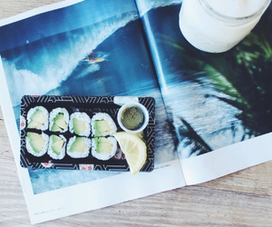 food, sushi, and surf image