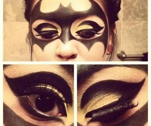batman, Halloween, and makeup image