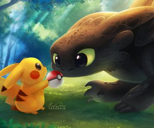 pikachu, pokemon, and toothless image