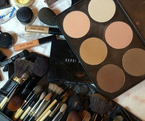 Brushes, make up, and maquillaje image