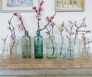 beautiful, bottle, and glass image