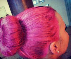 bun, girly, and pink image